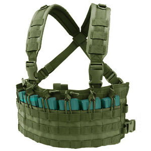 NEW CONDOR MCR6 MOLLE 5.56 .223 MAGAZINE Pouch Rapid Assault Chest Rig OD GREEN