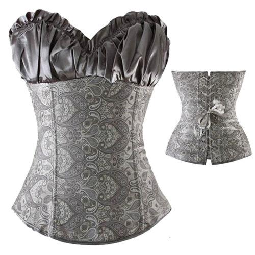 Women Hot Overbust Boned Party Corsets Bustier Waist Trainer Shapewear Plus Size