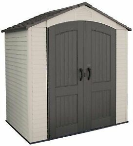 Lifetime 7 W X 4 5 D Small Plastic Outdoor Garden Storage Shed Kit