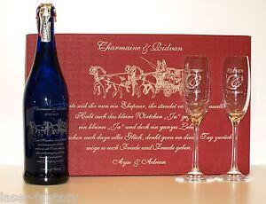 online store b861f 04deb Details zu Sektset Festival Hochzeit Glasgravuren Geschenkidee Geschenkset  Flasche Gläser