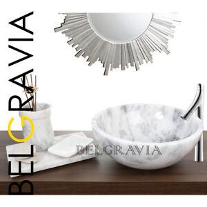 Marble Stone Sink Bathroom Cloakroom Vessel Vanity Basin Bowl Oriental White R48 Ebay