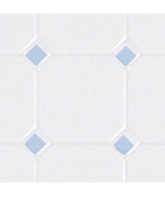 Black /& Beige Octagon Tile Floor Sheet dollhouse  #7317 1//12 scale Houseworks