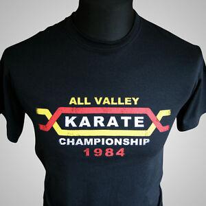 Retro Karate Kid Movie Cobra Kai TShirt Black