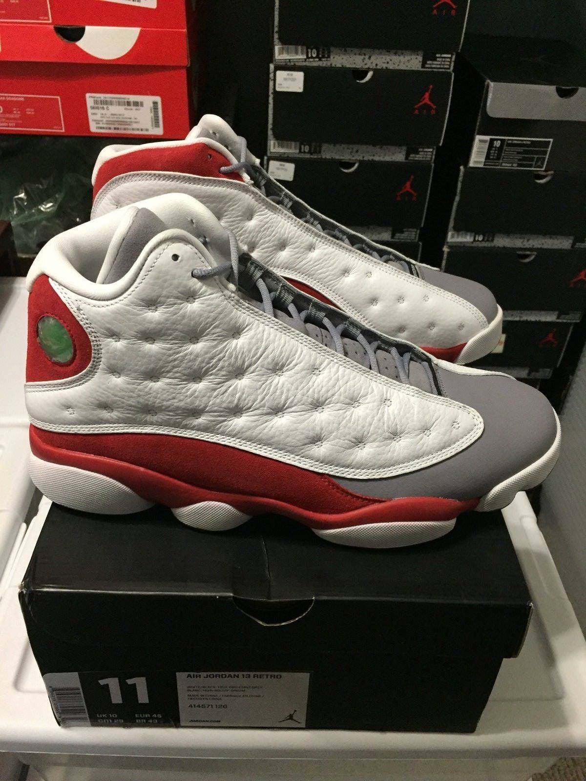 AIR JORDAN 13 RETRO GREY TOE MENS SIZE 11 DEADSTOCK