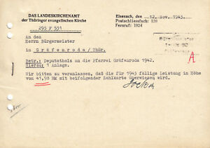 Anschreiben-Landeskirchenamt-d-Thueringer-ev-Kirche-Eisenach-12-11-1943