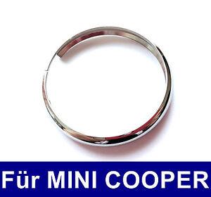 1-UNIDAD-LLAVE-Emisor-Cromo-Anillo-de-metal-para-Mini-Cooper-S-One-JCW-CLUBMAN