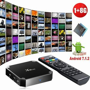 2018 X96MINI Android 7.1.2 Nougat 1+8G Quad Core 4K Media HDMI WIFI Smart TV BOX