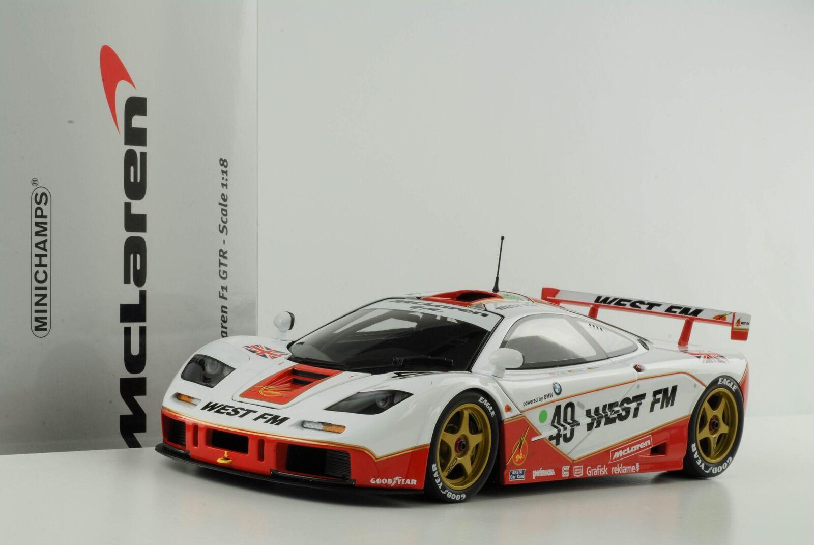Mclaren Mclaren Mclaren F1 GTR short Tail 24 H le Mans 1995 West Fm 1 18 Minichamps 1f3d93