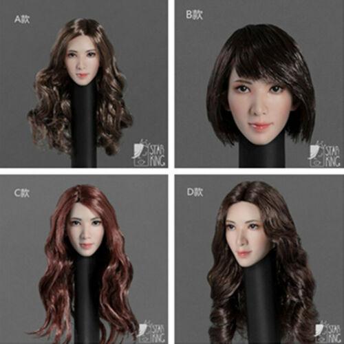 "StarKingToys SK001 1//6 Asian Beauty Head Sculpt Carving Fit 12/"" Figure Body"