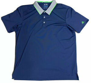 adidas-Climacool-Golf-Polo-Men-039-s-Short-Sleeve-shirt-Size-XL-Blue