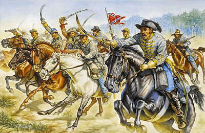 Discreto Confederate Cavalry Raiders Plastic Kit 1:72 Model Italeri Volume Grande