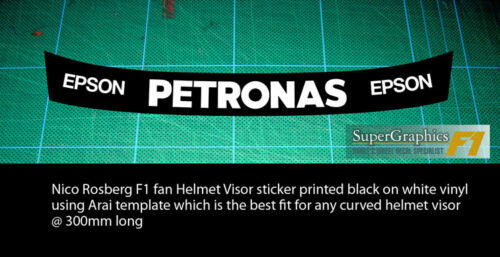 Visière Casque Rayé Autocollant Fit Nico Rosberg Lewis Hamilton Mercedes F1