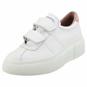 womens white leather platform trainers