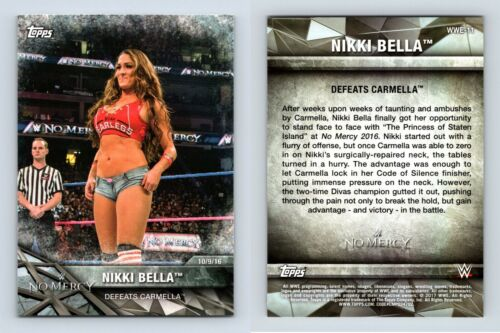Nikki Bella #WWE-11 WWE Womens Division WWE Matches /& Moments 2017 Topps Card