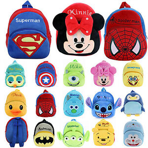 Image is loading Minnie-Spiderman-Baby-Kids-Mini-Backpack-Cartoon-Animal- dc88d43a2f667