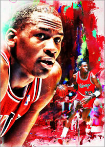 2021-Michael-Jordan-Chicago-Bulls-4-25-Art-ACEO-Sketch-Print-Card-By-Q