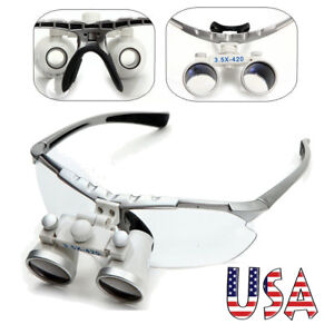 USA-Dental-Surgical-Medical-Binocular-Loupes-3-5X-420mm-Optical-Glass-Magnifier