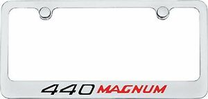 Plymouth Dodge 440 Magnum Polished Chrome License Plate Frame Tag Holder