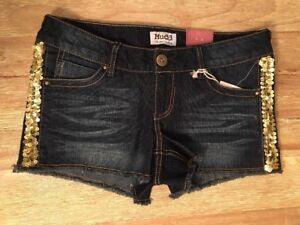 Shortie scuro oro denim Cut Sz Mudd con scuro Juniors Distressed 7 Offs color Pantaloncini Nuovo ASqX0v