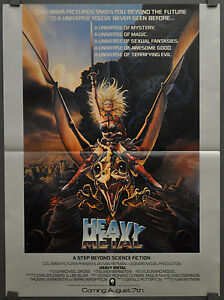 Heavy Metal 1981 Orig 18x24 Movie Poster Richard Romanus John Candy Ebay