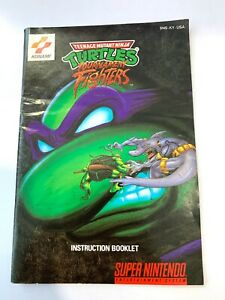 TMNT-Tournament-Fighters-SNES-Authentic-Manual-Instruction-Book-Nintendo
