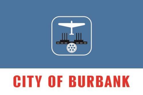 Aufkleber Burbank City Kalifornien Flagge Fahne 12 x 8 cm Autoaufkleber Sticker