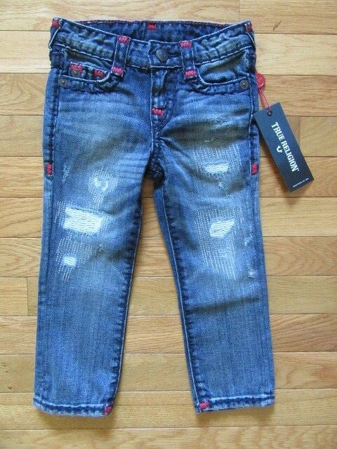 0163a71fe True Religion Kids Geno Super T Jeans Tarnished Wash Adj. Waist 3t for sale  online | eBay