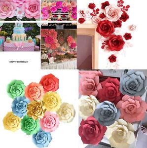 203040cm paper flower backdrop wall large rose flowers diy wedding image is loading 20 30 40cm paper flower backdrop wall large mightylinksfo