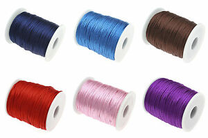 5-ou-10m-Fil-Satin-Nylon-1-5mm-Pour-bracelet-Shamballa-Attache-tetine-Bijoux