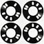 4 X 5MM espaciadores hubcentric 5X100 56.1 Ajuste Subaru Impreza Outback Xv