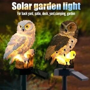 Solaire-DEL-Light-Stand-Owl-Garden-Landscape-Yard-Outdoor-Decor-Lampe-etanche