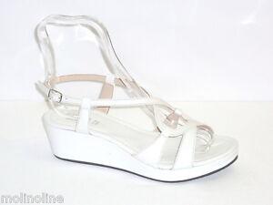 Scarpe Donna Zeppe Pelle Estate Moda Sandali Bianco 38 Molinoline RRPAxw