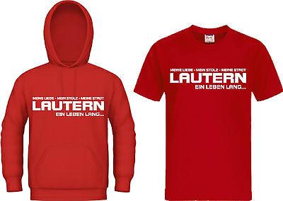 T-Shirt Kapuzensweat Kaiserslautern Lautern Hoodie Trikot Ultras Ein Leben lang