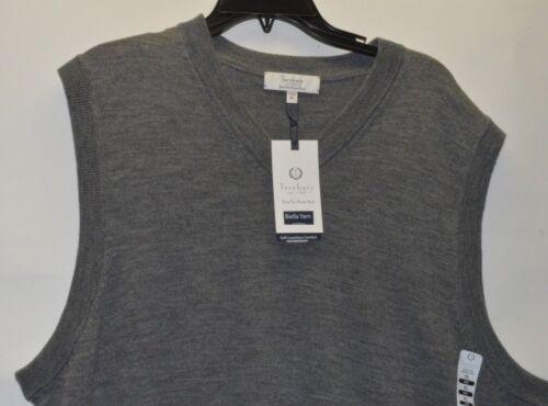 Turnbury Men's 100% Merino Wool V Neck Sweater Vest Biella