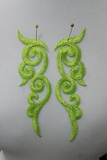 NEON Verde Ricamo Toppa Motivo Pizzo APPLIQUE Irish Danza Costume taglio