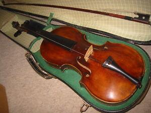 Belle De Haute Qualité Très Vieux Violon, Old Violin-afficher Le Titre D'origine Emballage De Marque NomméE