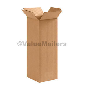 25 4x4x38 TALL Cardboard Packing Mailing Moving Shipping Corrugated Boxes
