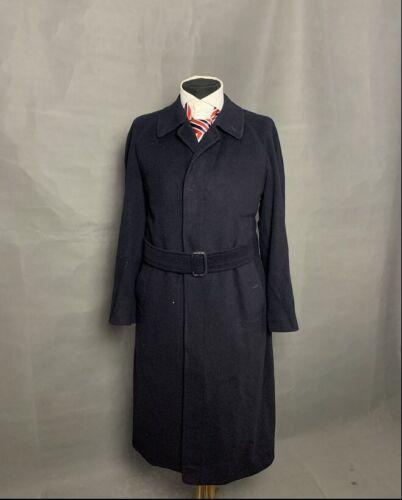 Burberry Men's Blue Pure Cashmere Belted Coat Siz… - image 1