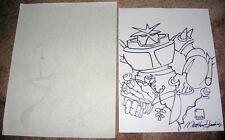 2 Original Comic Art Sketches Robot & Girl