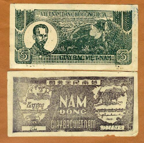 5 Dong Pick 17 Vietnam 1948 ND Circulated /> First Indochina War North