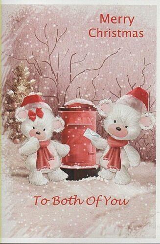 Joyeux Noël à vous deux-vous deux Carte de Noël