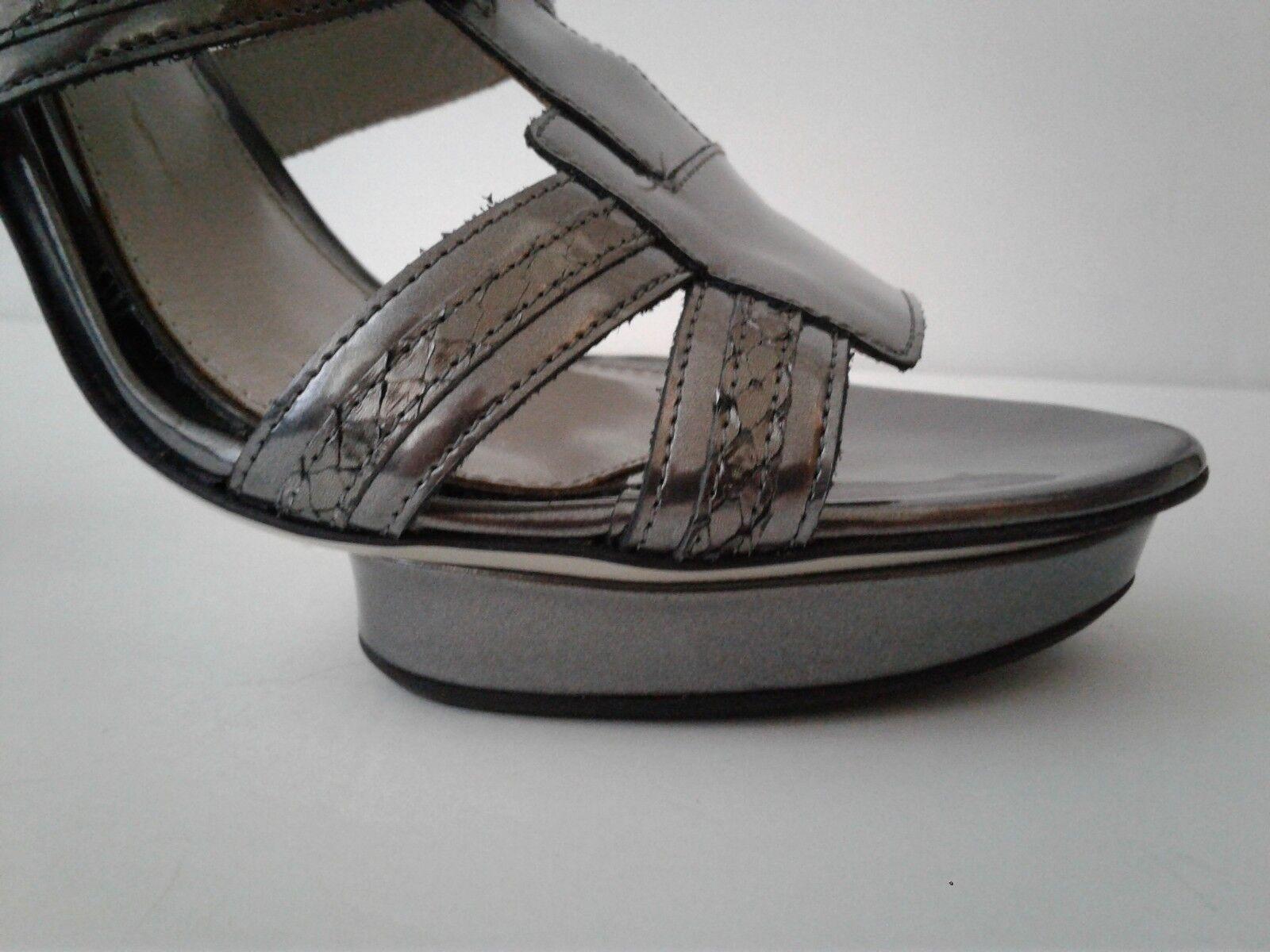 JASON WU WU WU Carolyn 2 Platform Sandals, (Metallic Silber), Größe 9 -9.5 US - 39.5 EU 7b19e7
