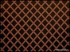 Antique Radio Speaker Grille Cloth,18x24, Blk/Gold Diamond (rev),See Description