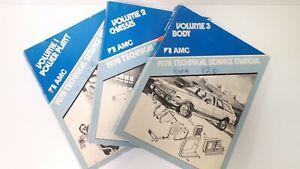 1978-AMC-Set-of-Three-Shop-Manuals-Good-Condition-US