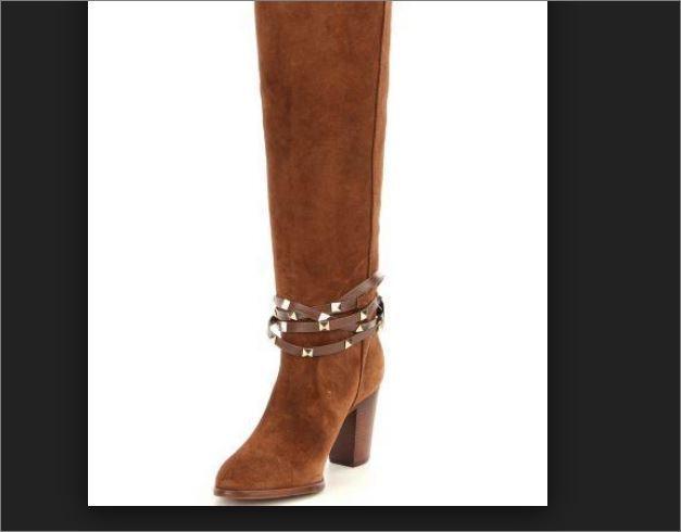 Antonio Melani Binx Studded Suede Dress Stiefel Cinnamon Braun Choose Größe 170