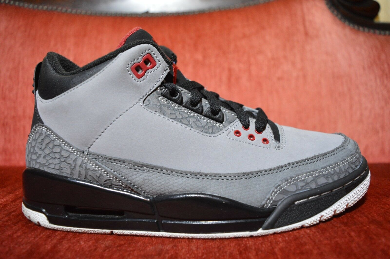 CLEAN Nike Air Jordan 3 III Retro Stealth Cool Grey Black 136064-003 Size 7.5