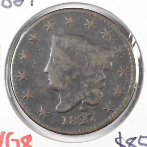 1827-Coronet-Head-Large-Cent-Very-Good-Condition