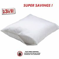 4 Standard Zippered Pillow Cases Pillow Cover 20'' X 30'' Cotton T-180 on sale