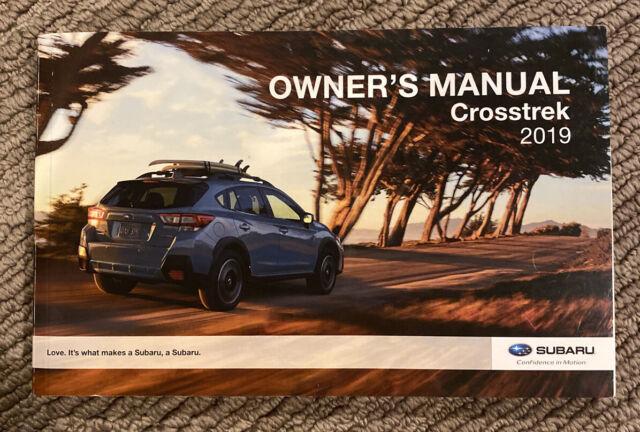 2019 Subaru Crosstrek Owners Manual