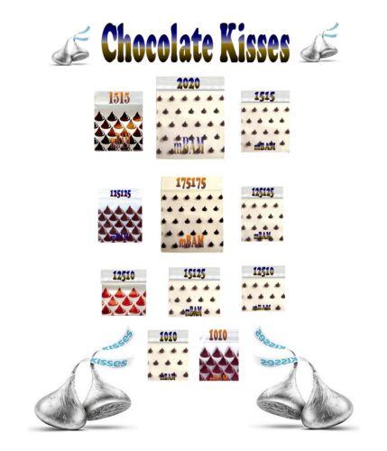 "2.0x2.0/"" 200 CHOCOLATE KISSES LOT Apple Ziplock Baggies Mini POLYBAGS 1.0x1.0/"""